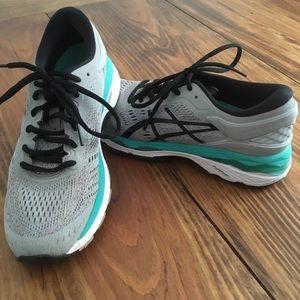 ASICS Gel-Kayano 24 Gray/Teal Running Shoes